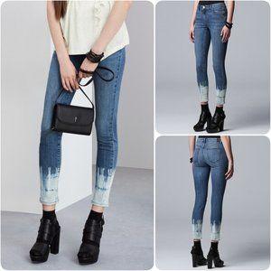 Simply Vera Vera Wang Tie-Dye Ankle Jeans Size 16
